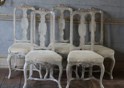 Item no13, 5 chairs rococo